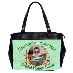 Grandma Loves Her Sweet Honey Bees Two Sided By Chere s Creations   Oversize Office Handbag (2 Sides)   Rdd4b2ljtihm   Www Artscow Com Front