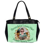 Grandma Loves Her Sweet Honey Bees Two Sided - Oversize Office Handbag (2 Sides)