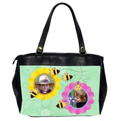 Grandma Loves Her Sweet Honey Bees Two Sided By Chere s Creations   Oversize Office Handbag (2 Sides)   Rdd4b2ljtihm   Www Artscow Com Back