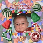 Baby s First Christmas 2011 12x12 - ScrapBook Page 12  x 12
