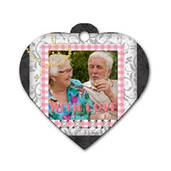 Flower Of Love Story By Joely   Dog Tag Heart (two Sides)   Ufonxzkpr7sg   Www Artscow Com Back