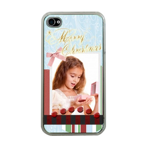 Merry Christmas By Joely   Apple Iphone 4 Case (clear)   8w1u0sxo7eqq   Www Artscow Com Front