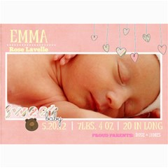 Baby Girl Card By Denise Zavagno   5  X 7  Photo Cards   V8t8t22vzfpu   Www Artscow Com 7 x5 Photo Card - 1