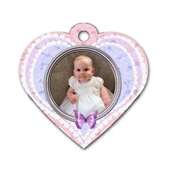 Shabby Chic I Love You Heart Dog Tag By Claire Mcallen   Dog Tag Heart (two Sides)   Ayfkd0xbgs4o   Www Artscow Com Front