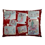 Merry Christmas Pink Bird - Pillow Case