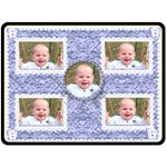 Flutter bear blue baby boys blanket blankie xl - Fleece Blanket (Large)