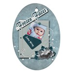 Frozen Faces Oval 2Sided Ornament - Oval Ornament (Two Sides)
