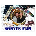 winter fun puzzle - Jigsaw Puzzle (Rectangular)