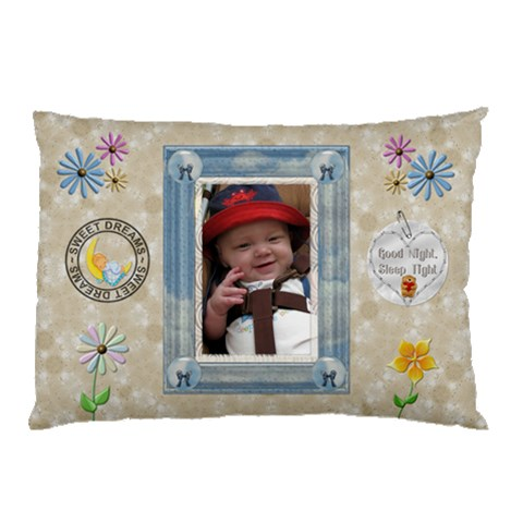 Sweet Dreams Boy Pillow Case (1 Sided) By Lil    Pillow Case   Kzscj66l6bcw   Www Artscow Com 26.62 x18.9 Pillow Case