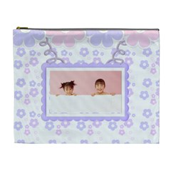 Go Floral Cosmetic Bag Xl By Purplekiss   Cosmetic Bag (xl)   Ejh3u7lvp9om   Www Artscow Com Front