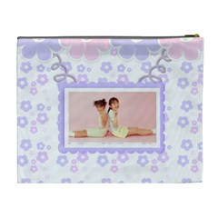 Go Floral Cosmetic Bag Xl By Purplekiss   Cosmetic Bag (xl)   Ejh3u7lvp9om   Www Artscow Com Back