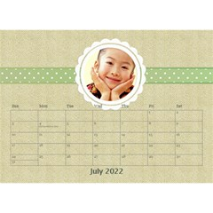 Floral Cathy Desktop Calendar  by purplekiss Jul 2012