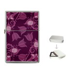 Purple Tulips Squares Flip Top Lighter