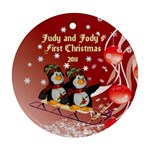 Twins first Christmas - Ornament (Round)
