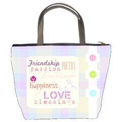 Love Friendship Pastel Bucket Bag By Purplekiss   Bucket Bag   17i2foqcq9ya   Www Artscow Com Back