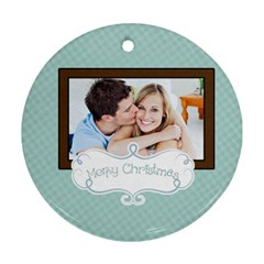 Christmas By May   Round Ornament (two Sides)   Tkjq4c9ajhlc   Www Artscow Com Back