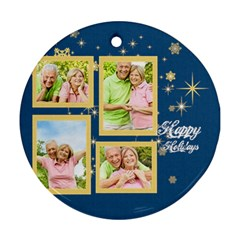 Christmas By May   Round Ornament (two Sides)   7recmpltv4z7   Www Artscow Com Front