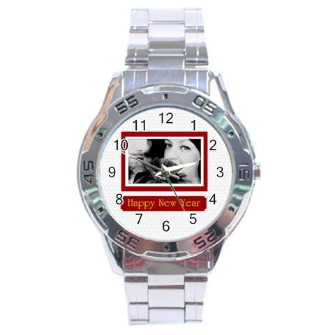 Nyw By May   Stainless Steel Analogue Watch   Kbyw88wdtxt6   Www Artscow Com Front
