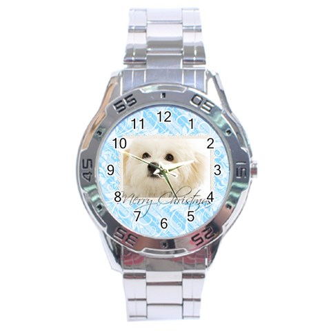 Christmas By May   Stainless Steel Analogue Watch   Ql3yj2jsng4b   Www Artscow Com Front