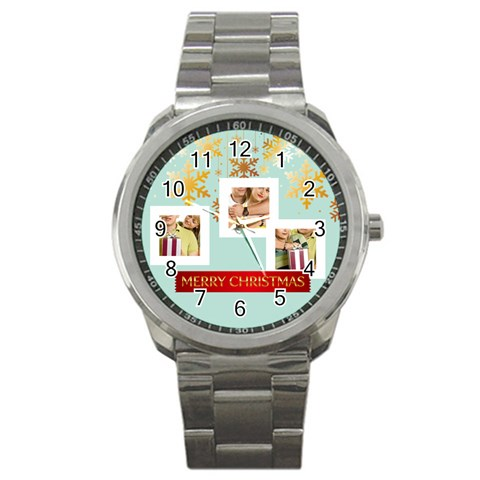 Christmas By May   Sport Metal Watch   Hyuk2be2smnh   Www Artscow Com Front