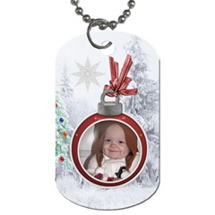Christmas Love 2 Sided Dog Tag By Lil    Dog Tag (two Sides)   Qqwyna07l3mt   Www Artscow Com Front
