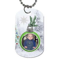 Christmas Love 2 Sided Dog Tag By Lil    Dog Tag (two Sides)   Qqwyna07l3mt   Www Artscow Com Back