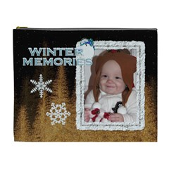 Winter Memories Xl Cosmetic Bag By Lil    Cosmetic Bag (xl)   410w8api631n   Www Artscow Com Front