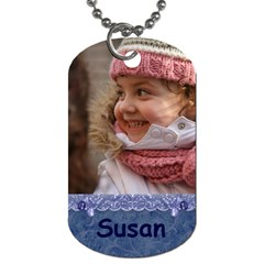Blue Frill Dog Tag (2 Sided) By Deborah   Dog Tag (two Sides)   1wizj1ob85y2   Www Artscow Com Front