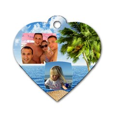 Tropical Adventure (2 Sided) Dog Tag By Deborah   Dog Tag Heart (two Sides)   Mq6ijdmvwqrg   Www Artscow Com Front