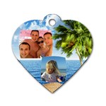 Tropical Adventure (2 sided) Dog Tag - Dog Tag Heart (Two Sides)