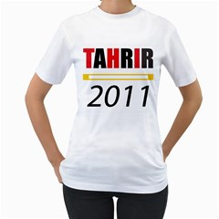 Tahrir Tshirt By Hanaan   Women s T Shirt (white) (two Sided)   Qf8i6nj4n0n1   Www Artscow Com Front