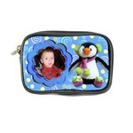 blue swirl penguin coin purse