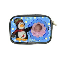Blue Swirl Penguin Coin Purse By Kim Blair   Coin Purse   9b0w7o0bgk3e   Www Artscow Com Back
