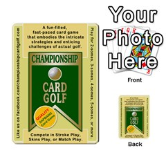 Championship Card Golf Deck (final Version 12 20 2012) By Douglas Inverso   Multi Purpose Cards (rectangle)   9783yblrbkq7   Www Artscow Com Front 1