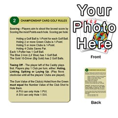 Championship Card Golf Deck (final Version 12 20 2012) By Douglas Inverso   Multi Purpose Cards (rectangle)   9783yblrbkq7   Www Artscow Com Back 2