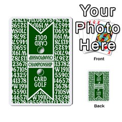 Championship Card Golf Deck (final Version 12 20 2012) By Douglas Inverso   Multi Purpose Cards (rectangle)   9783yblrbkq7   Www Artscow Com Back 16