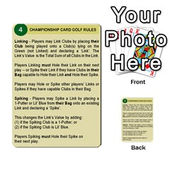 Championship Card Golf Deck (final Version 12 20 2012) By Douglas Inverso   Multi Purpose Cards (rectangle)   9783yblrbkq7   Www Artscow Com Back 3