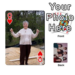 Queen Grandmar s 90th By Meghan   Playing Cards 54 Designs   Q9sp3o46cj27   Www Artscow Com Front - HeartQ