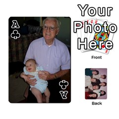 Ace Grandmar s 90th By Meghan   Playing Cards 54 Designs   Q9sp3o46cj27   Www Artscow Com Front - ClubA