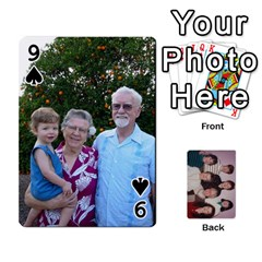 Grandmar s 90th By Meghan   Playing Cards 54 Designs   Q9sp3o46cj27   Www Artscow Com Front - Spade9