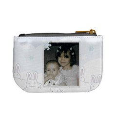 Snow Bunnies Mini Coin Purse By Kim Blair   Mini Coin Purse   A48ui6xe02p1   Www Artscow Com Back