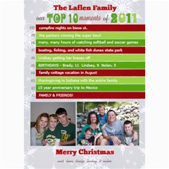 Top 10 Moments Christmas Card By Lana Laflen   5  X 7  Photo Cards   T254x4valtuk   Www Artscow Com 7 x5  Photo Card - 1