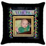 Cutie Pie Throw Pillow Case - Throw Pillow Case (Black)