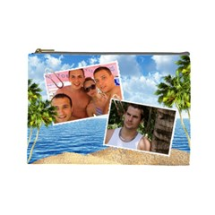 Holiday (large) Cosmetic Bag By Deborah   Cosmetic Bag (large)   Rjy36fw0nlal   Www Artscow Com Front
