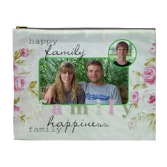 Xl Cosmetic Bag Family Happiness By Laurrie   Cosmetic Bag (xl)   322vfuyiw825   Www Artscow Com Front