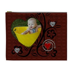 Red Love Xl Cosmetic Bag By Lil    Cosmetic Bag (xl)   Vj55s9sur4ow   Www Artscow Com Front