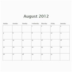 Nunezfamilycalendar By Becky   Wall Calendar 11  X 8 5  (12 Months)   7dlkg3pmyzd4   Www Artscow Com Aug 2012