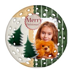Merry Christmas By Joely   Round Filigree Ornament (two Sides)   Kcbilwwwphg4   Www Artscow Com Back