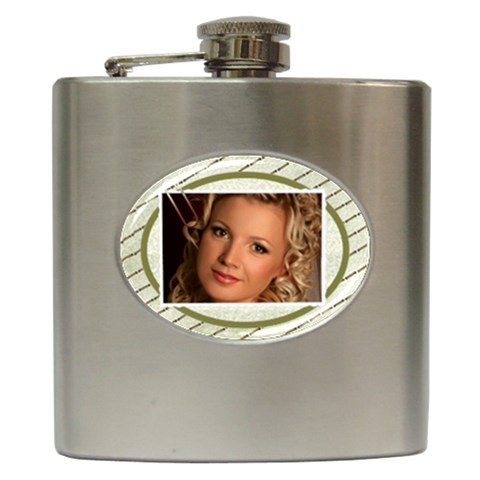 Memories Hip Flask By Deborah   Hip Flask (6 Oz)   W8tqufledbca   Www Artscow Com Front