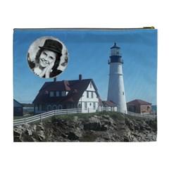 Light House Xl Cosmetic Bag By Kim Blair   Cosmetic Bag (xl)   Evumv5ezbo5v   Www Artscow Com Back